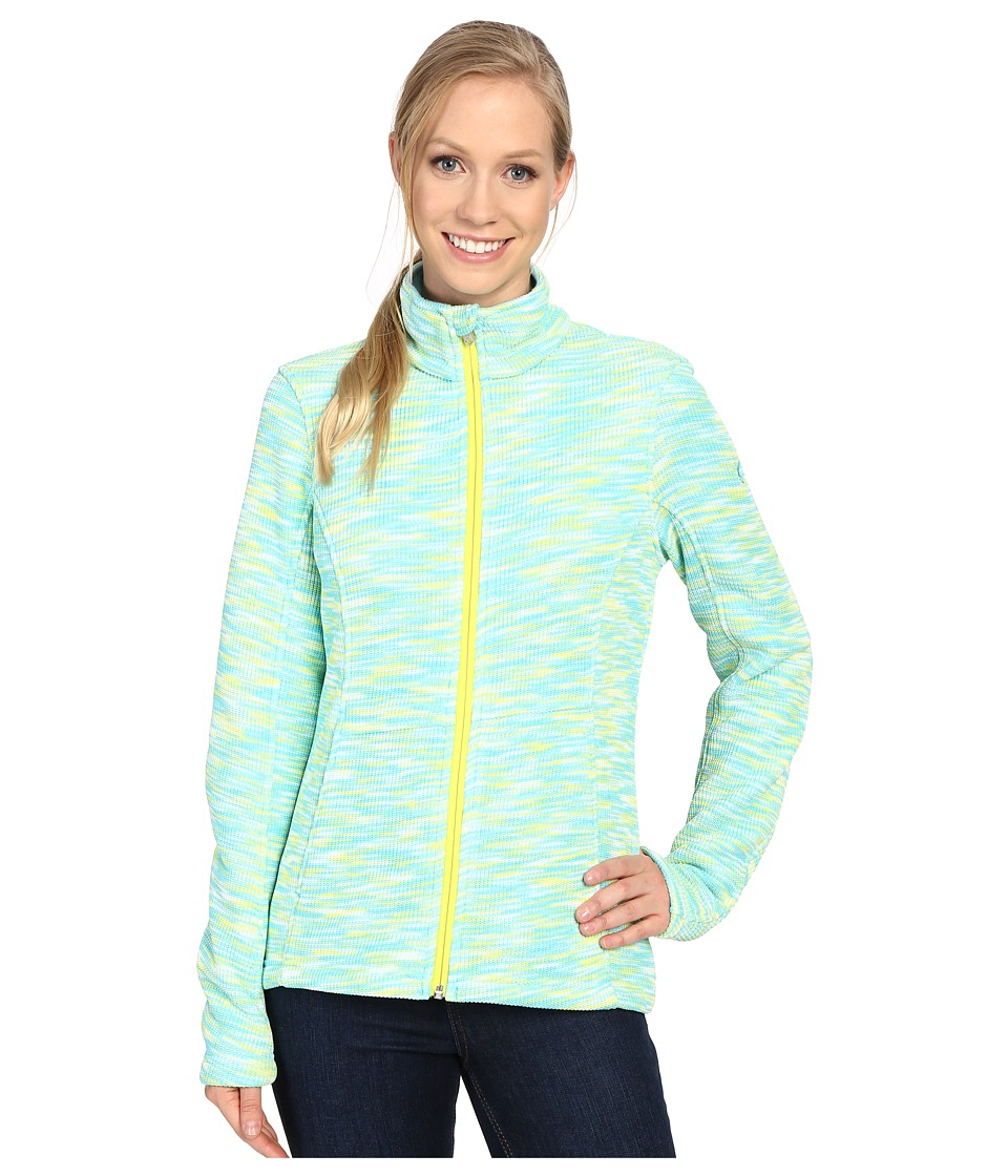 Spyder - Endure Space Dye Full Zip Mid Weight Core Sweater (Freeze/White/Acid) Women