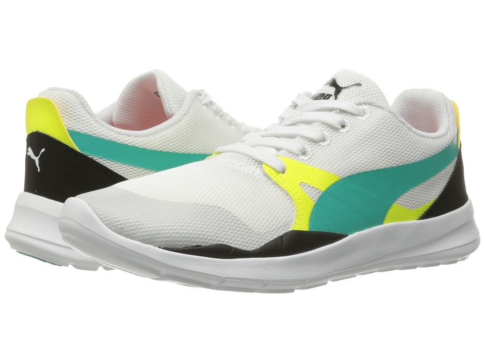 PUMA - Duplex Evo (Puma White/Spectra Green/Puma Black) Men