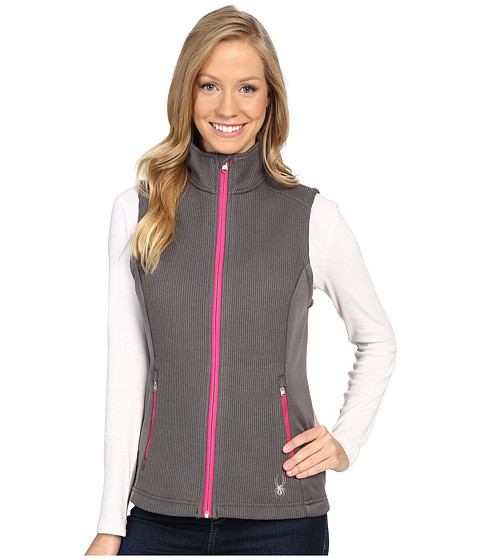 Spyder Melody Full Zip Mid Weight Core Sweater Vest - Weld/Voila