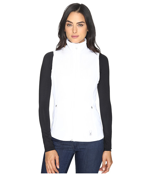 Spyder Melody Full Zip Mid Weight Core Sweater Vest - White/White 1