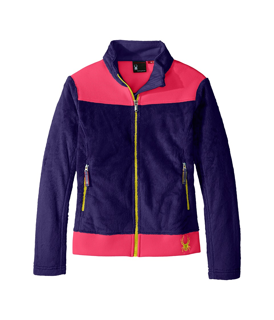 Spyder Kids Caliper Stryke Hybrid Fleece Jacket (Little Kids/Big Kids) (Pixie/Bryte Bubblegum/Acid) Girl