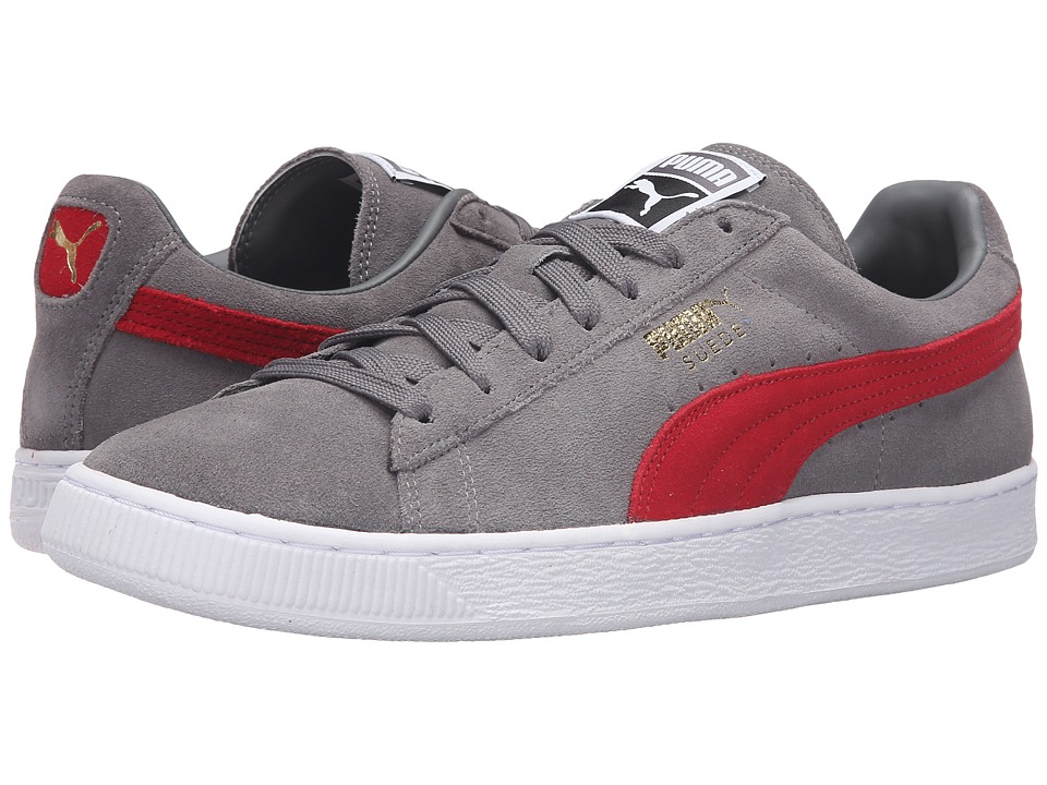 Suede Classic+ (Steel Gray/Barbados Cherry)