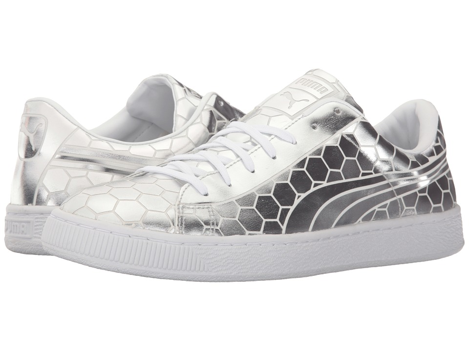 PUMA - Basket Classic Metallic (Silver) Men