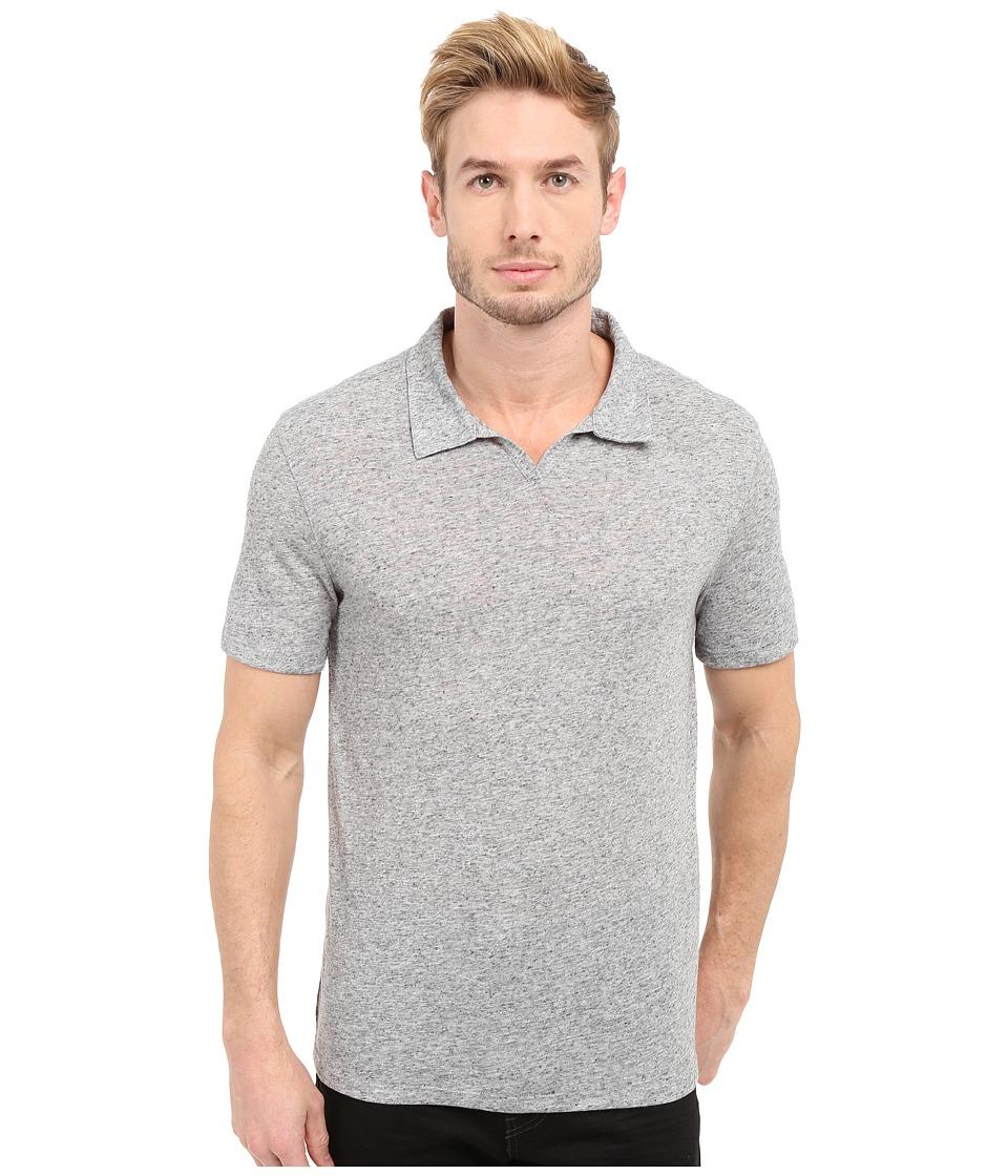 John Varvatos Star U.S.A. Johnny Collar Knit Shirt K2571S1L Grey Heather Mens Short Sleeve Pullover