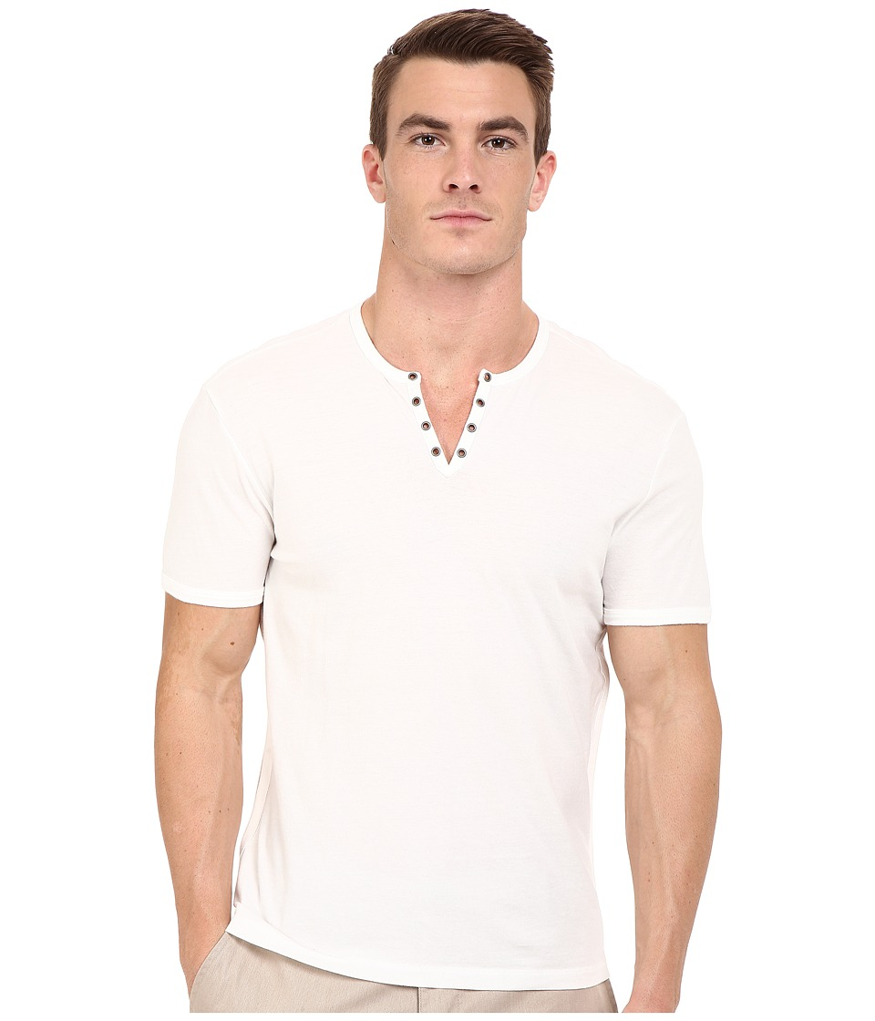 John Varvatos Star U.S.A. John Varvatos Star U.S.A. - Short Sleeve Crew Neck Knit Eylelet Placket Detail K1213R2B