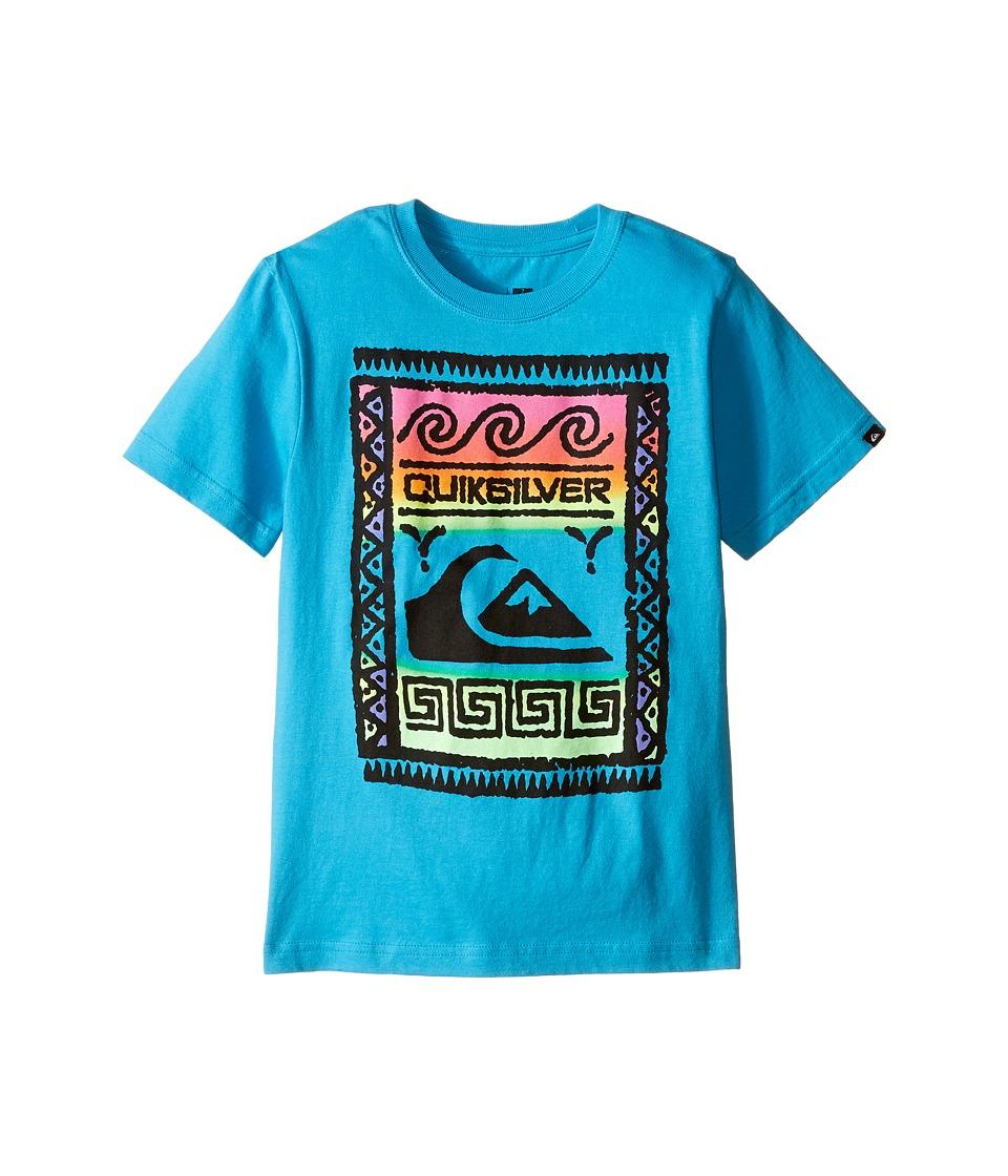 Quiksilver Kids Wall Street Screen Print Toddler/Little Kids Hawaiian Ocean Boys T Shirt