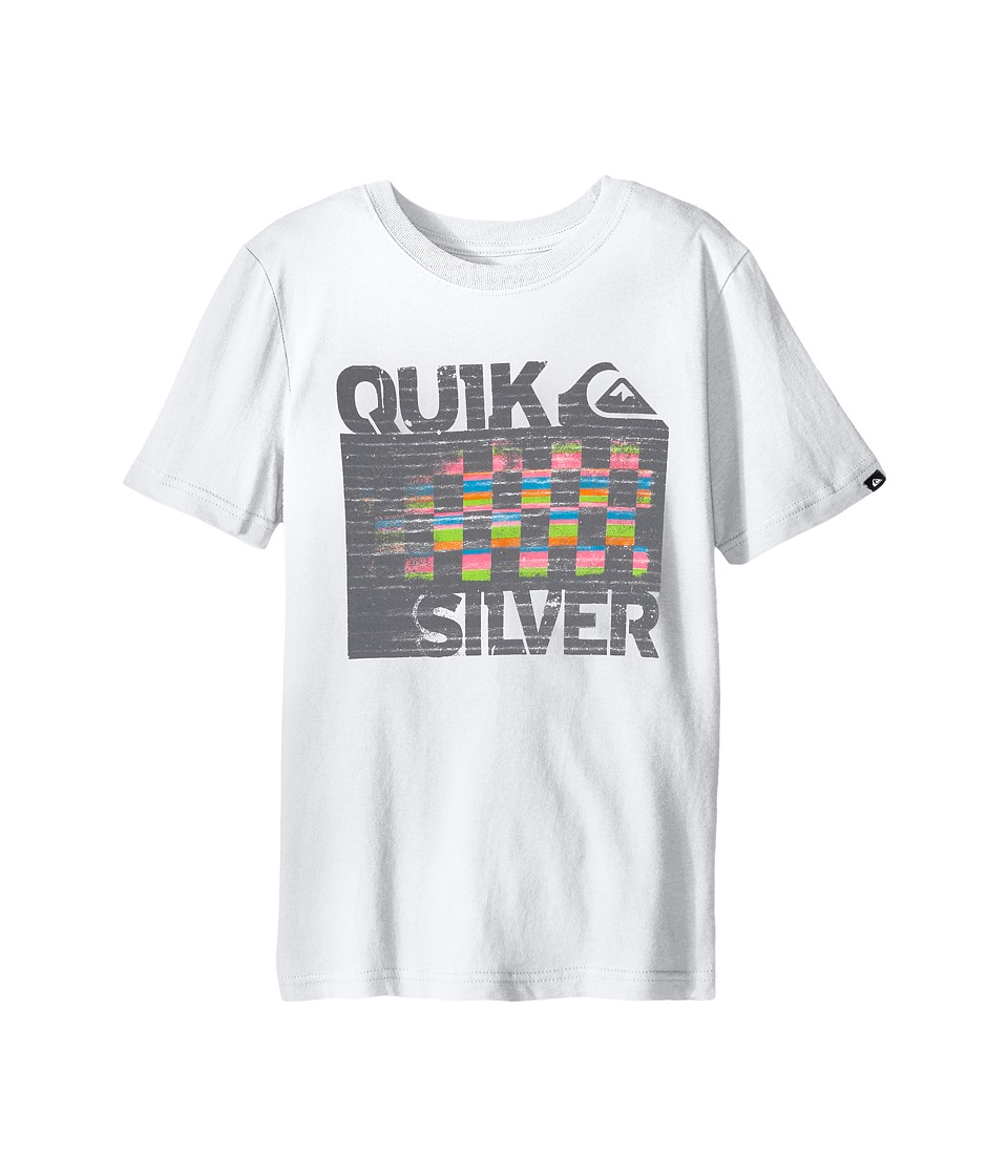 Quiksilver Kids 4X4 Screen Print Big Kids White Boys T Shirt