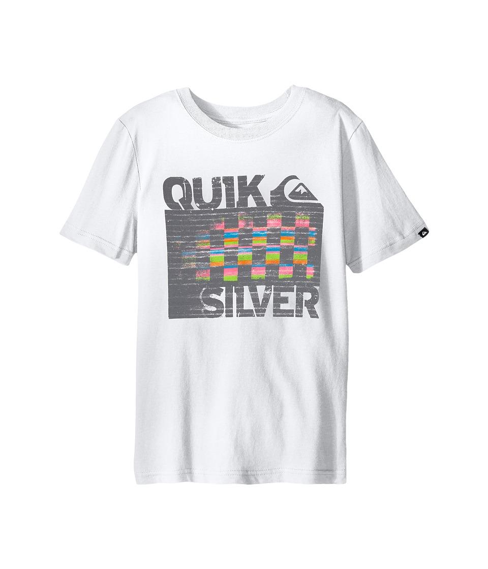 Quiksilver Kids 4X4 Screen Print Big Kids White Boys T Shirt
