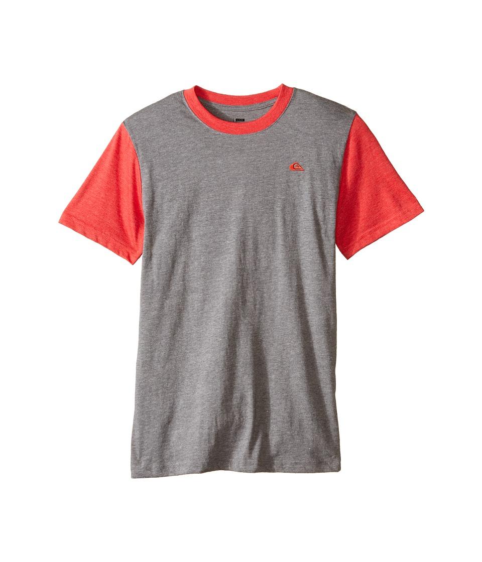 Quiksilver Kids Prime Screen Print Big Kids Medium Grey Heather Boys T Shirt
