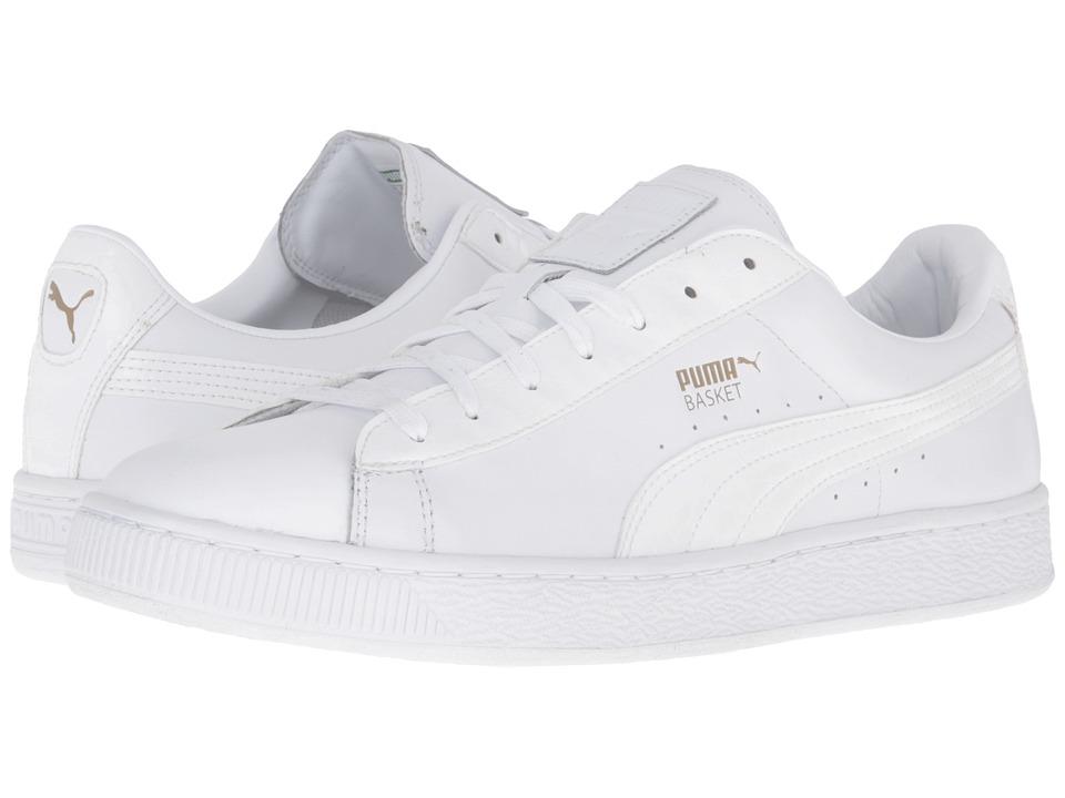 PUMA - Basket Classic Animal Croc (PUMA White) Mens Basketball Shoes