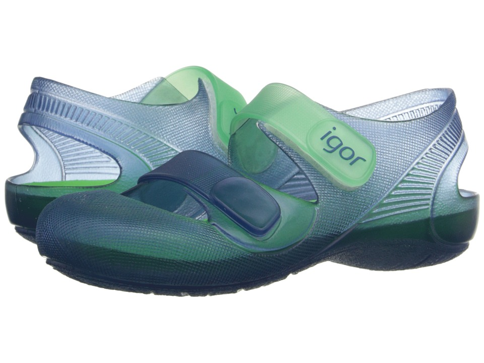 Igor Bondi Infant/Toddler/Little Kid Navy/Green Kids Shoes