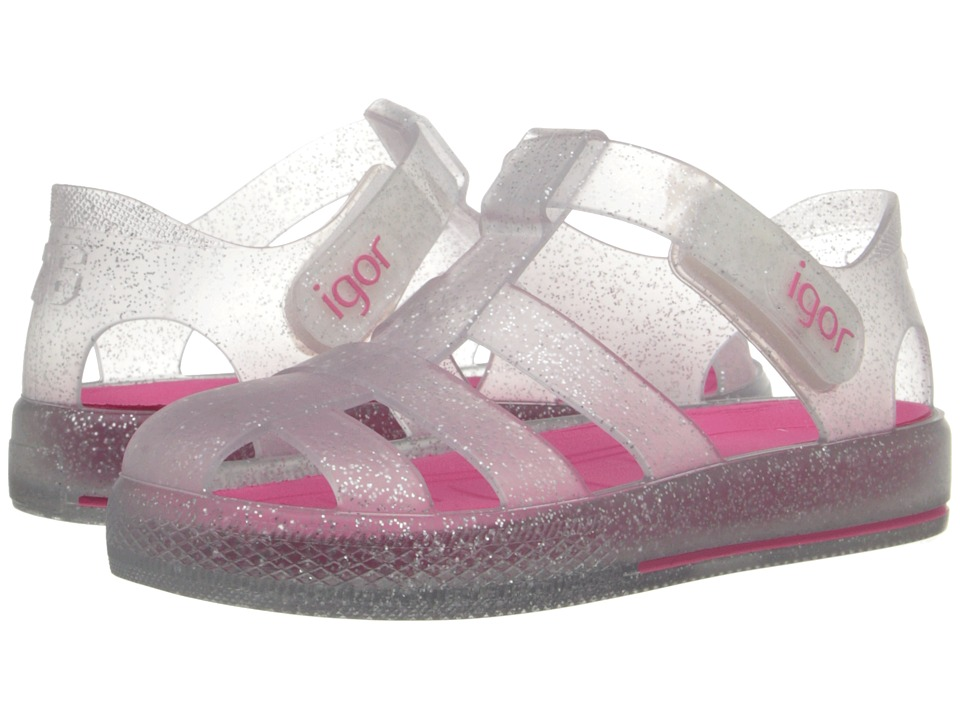 Igor Star Infant/Toddler/Little Kid Glitter Silver Kids Shoes