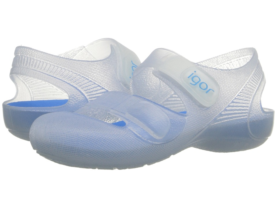 Igor Bondi Infant/Toddler/Little Kid White/Turquoise Kids Shoes