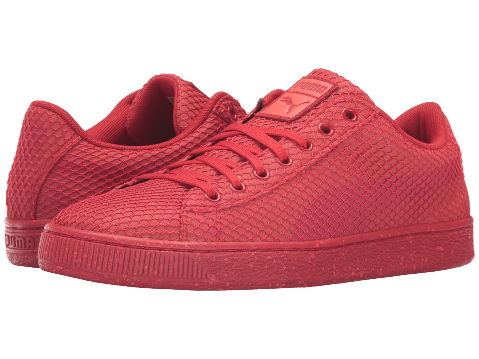PUMA - Basket Classic Night Camo (Red Blast) Men