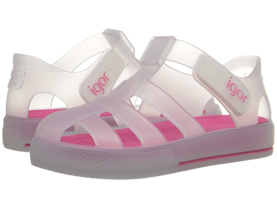 Igor Star Infant/Toddler/Little Kid White/Fuchsia Girls Shoes