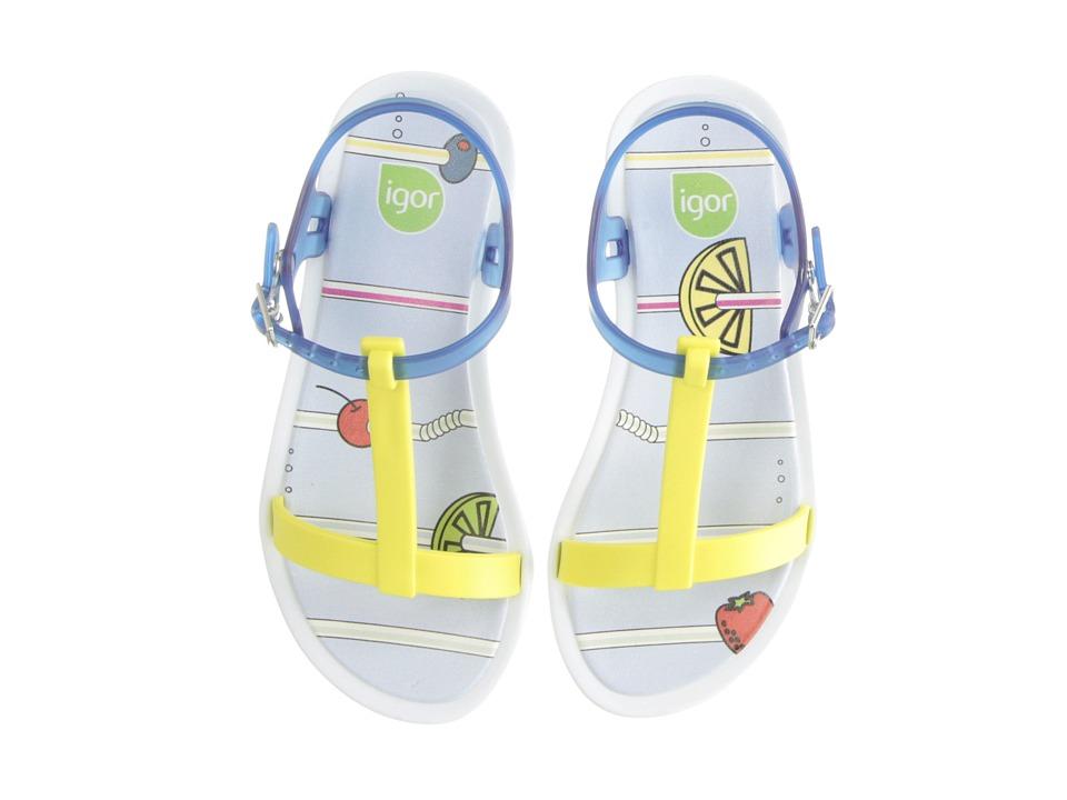 Igor Tricia Fresh Toddler/Little Kid/Big Kid Yellow/Transparent Blue Girls Shoes