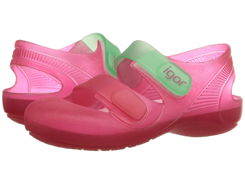 Igor Bondi Infant/Toddler/Little Kid Fuchsia/Aqua Girls Shoes
