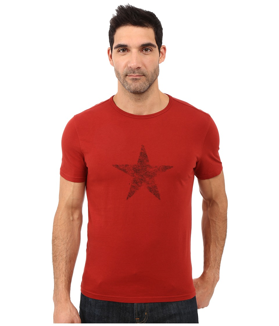 John Varvatos Star U.S.A. - Faded Star Graphic Tee K2607S1B (Red Clay) Men