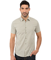John Varvatos Star U.S.A. - Slim Fit Sport Shirt with Cuffed Short Sleeves W443S1L