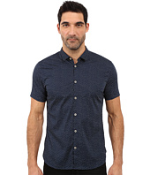John Varvatos Star U.S.A. - Slim Fit Mini Collar Short Sleeve Sport Shirt W508S1L
