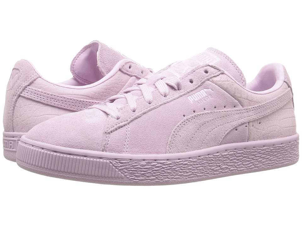 PUMA - Suede Classic Emboss (Lilac Snow) Womens Basketball Shoes