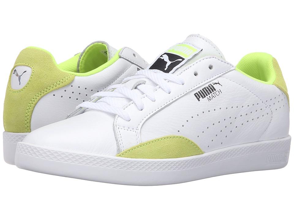 PUMA Match Lo Basic Sports (Puma White/Safety Yellow) Women