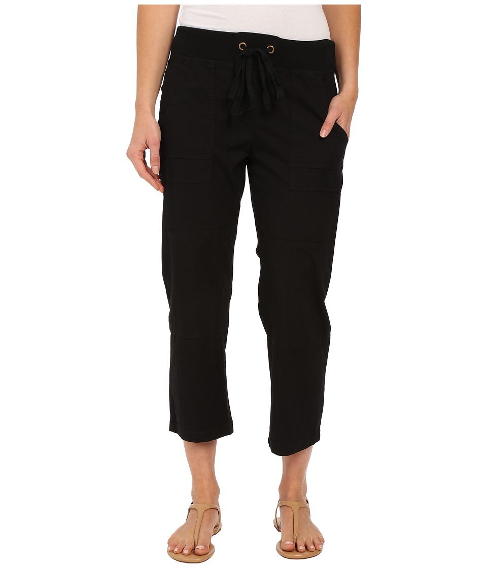 XCVI Caden Crop Black Womens Clothing
