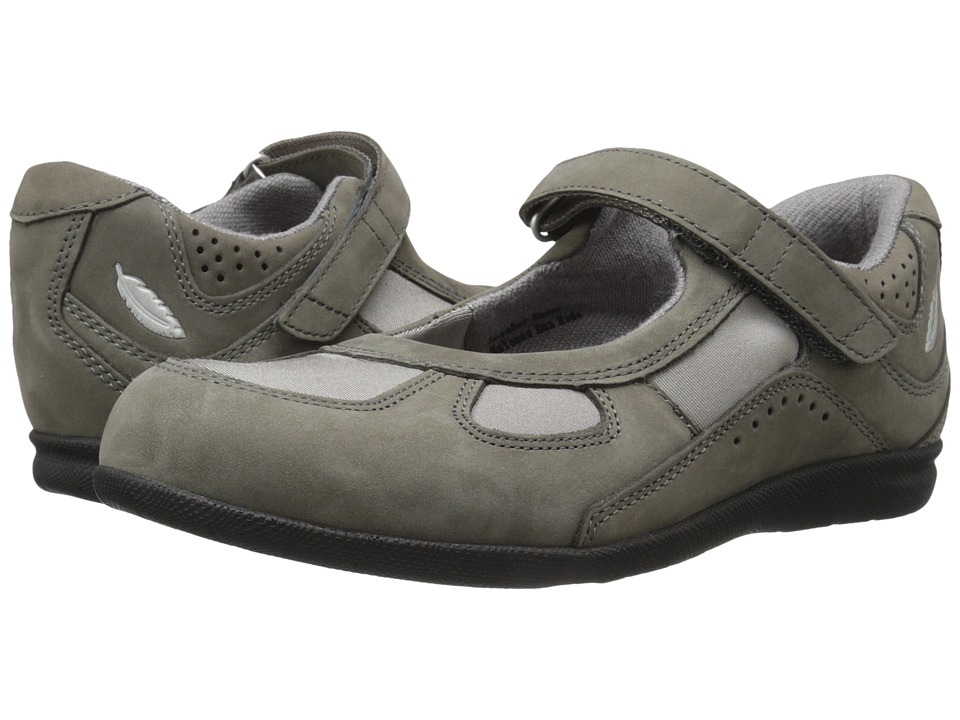 Drew Delite (Grey Nubuck/Grey Stretch) Maryjane Shoes