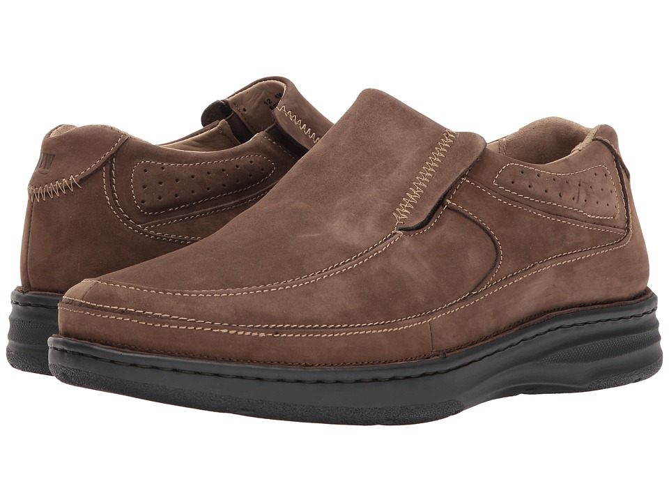 Drew - Bexley (Brown Nubuck) Mens Slip-on Dress Shoes