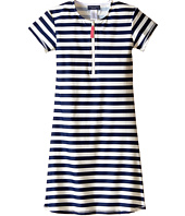 Toobydoo - Navy/White Stripe Short Sleeve Surf Dress (Infant/Toddler/Little Kids/Big Kids)