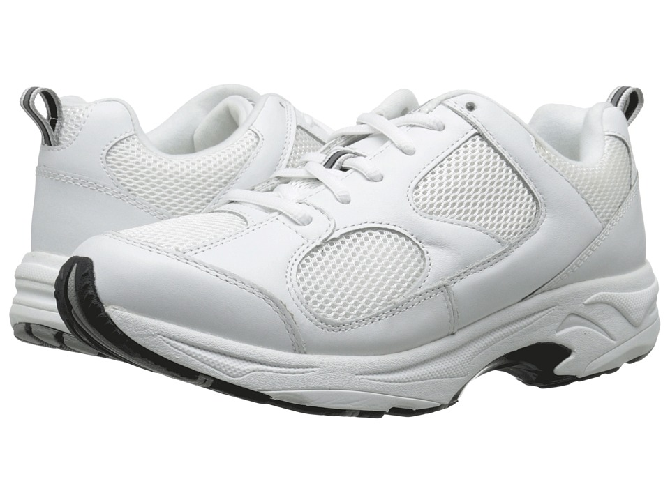 Drew Flash II (White Leather/White Mesh) Women