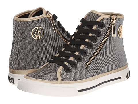 Armani Jeans Lurex Effect with Giraffe Print Sneaker