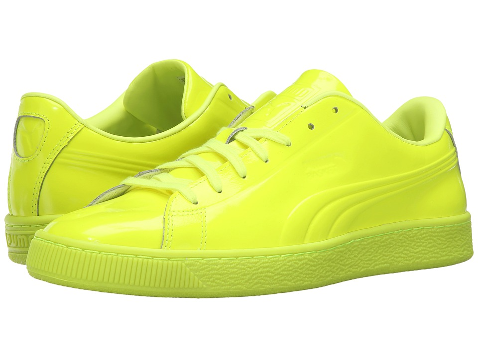 PUMA - Basket Classic Patent Emboss (Safety Yellow) Men