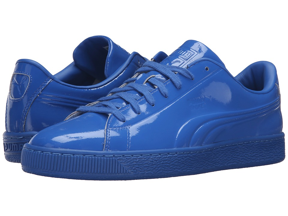 PUMA - Basket Classic Patent Emboss (Puma Royal) Men