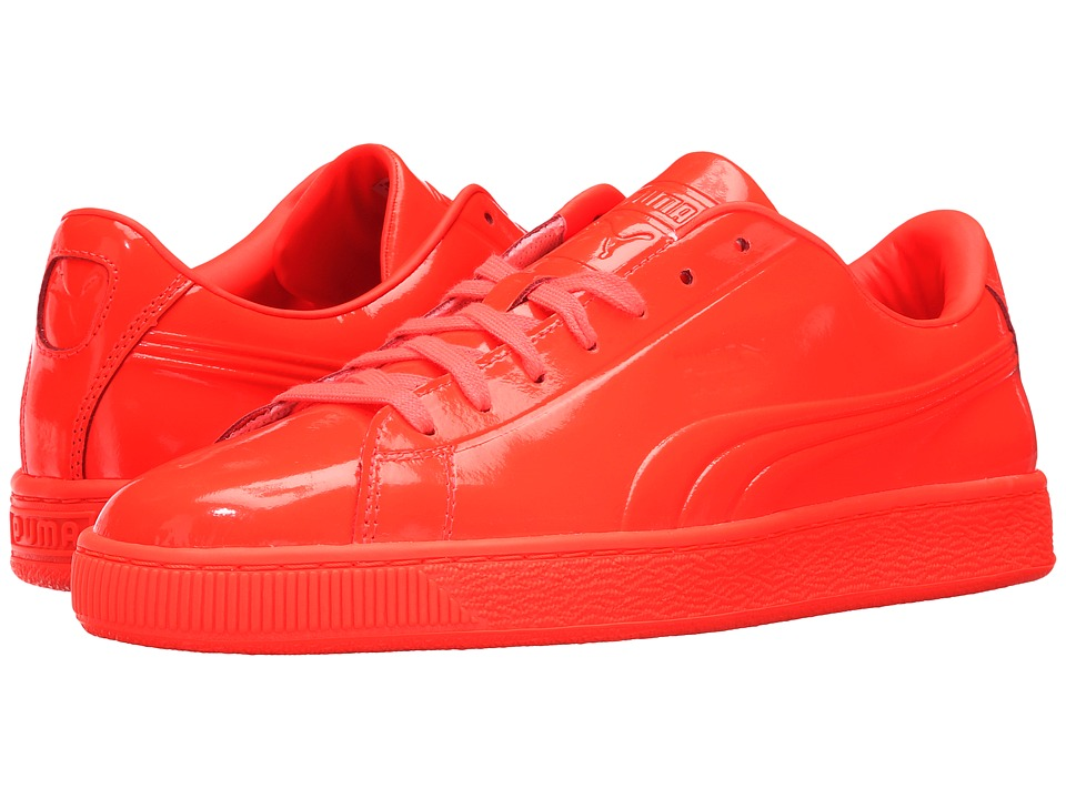 PUMA - Basket Classic Patent Emboss (Red Blast) Men