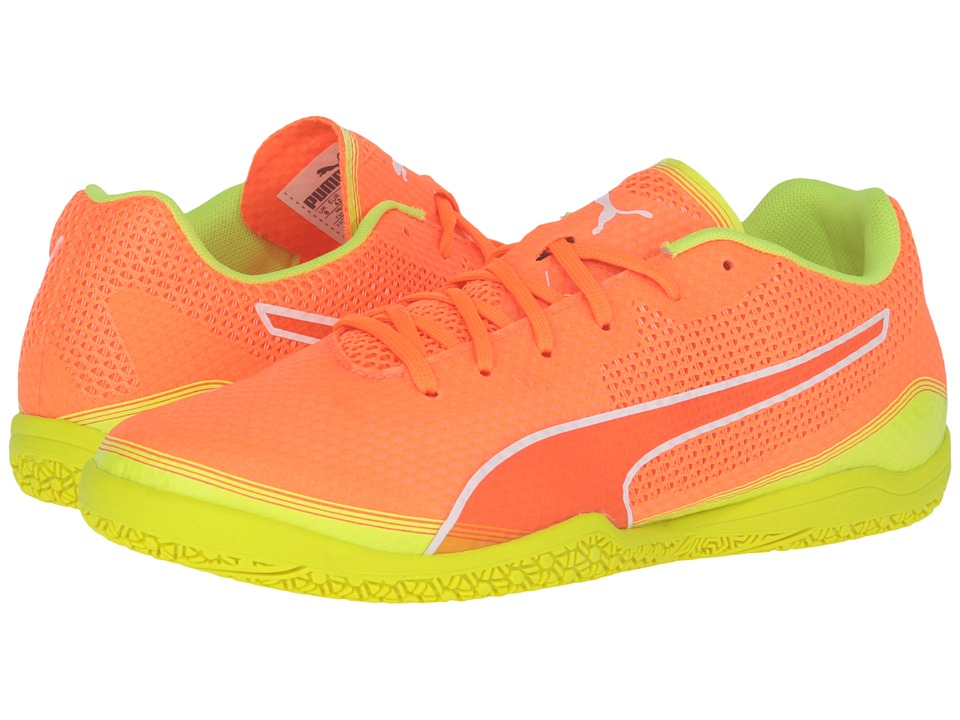 PUMA - Invicto Fresh (Shocking Orange/Puma White/Safety Yellow) Mens Shoes