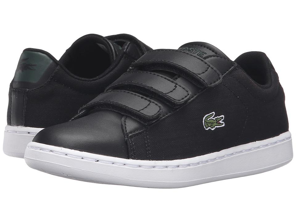 Lacoste Kids - Carnaby Evo 316 1 SPC (Little Kid) (Black) Kid