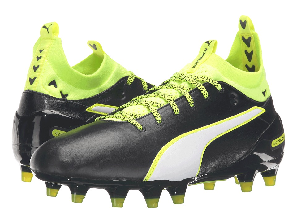 PUMA - evoTOUCH 1 FG (Black/White/Safety Yellow) Men