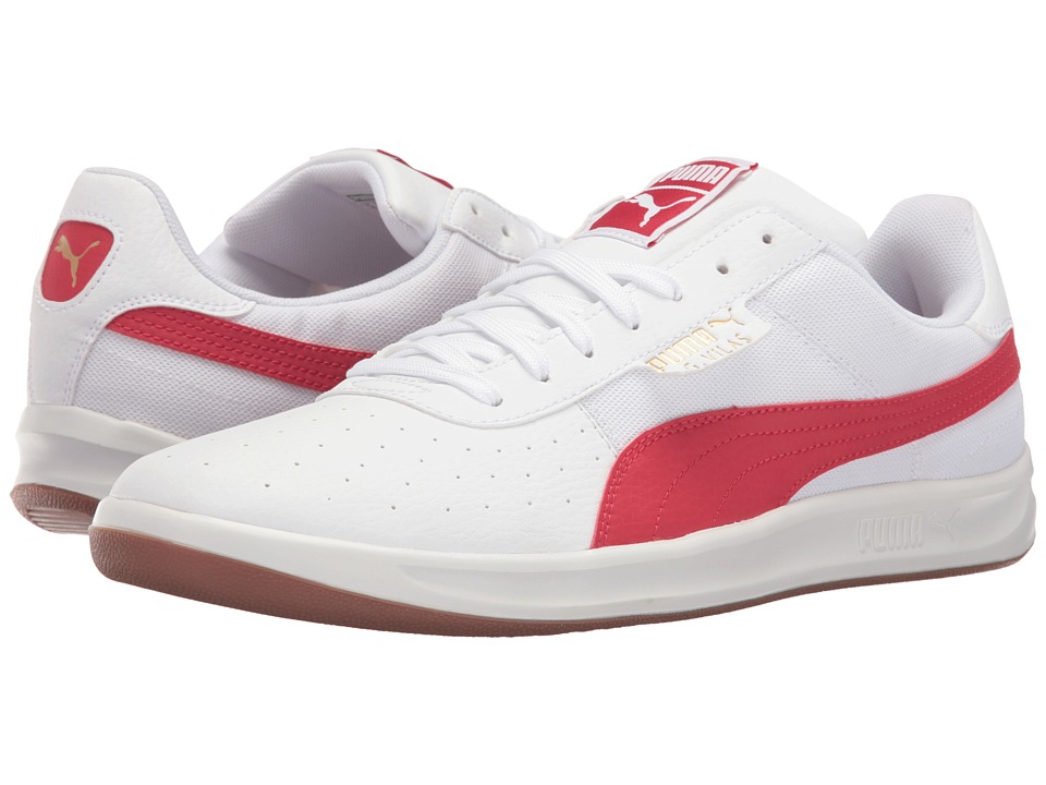 PUMA - G. Vilas 2 Core (Puma White/Barbados Cherry) Men