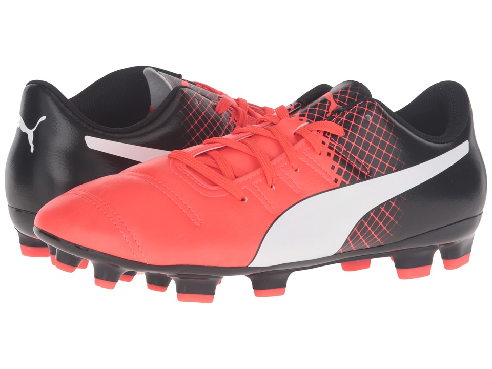 PUMA - evoPOWER 4.3 FG (Red Blast/Puma White/Puma Black) Men