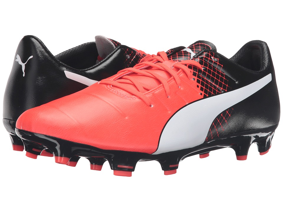 PUMA - evoPOWER 3.3 FG (Red Blast/Puma White/Puma Black) Men