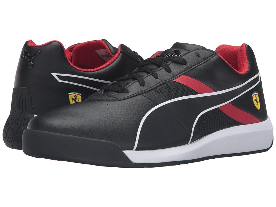PUMA - Podio Tech SF (Puma Black/Puma Black/Rosso Corsa) Men