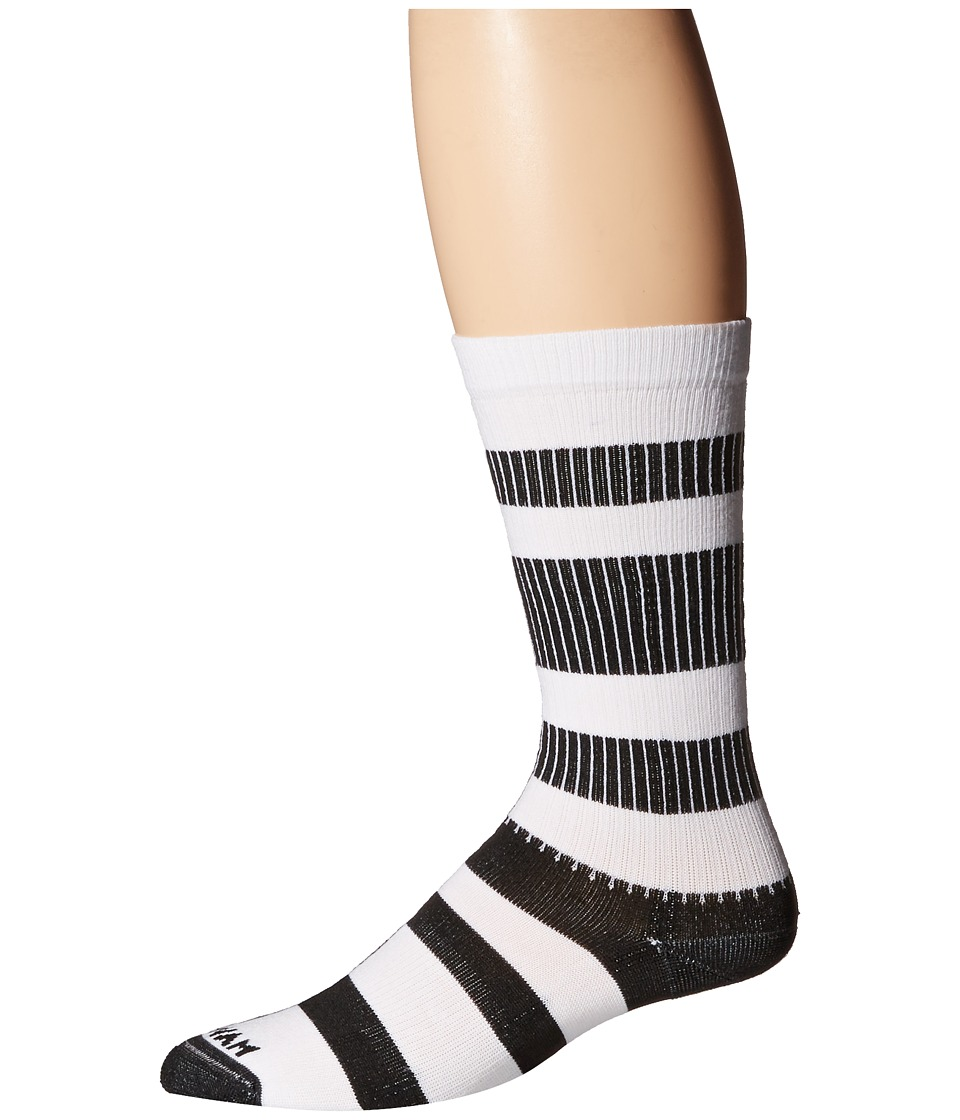 Wigwam Channel Crew 1 Pair Pack White/Black Crew Cut Socks Shoes