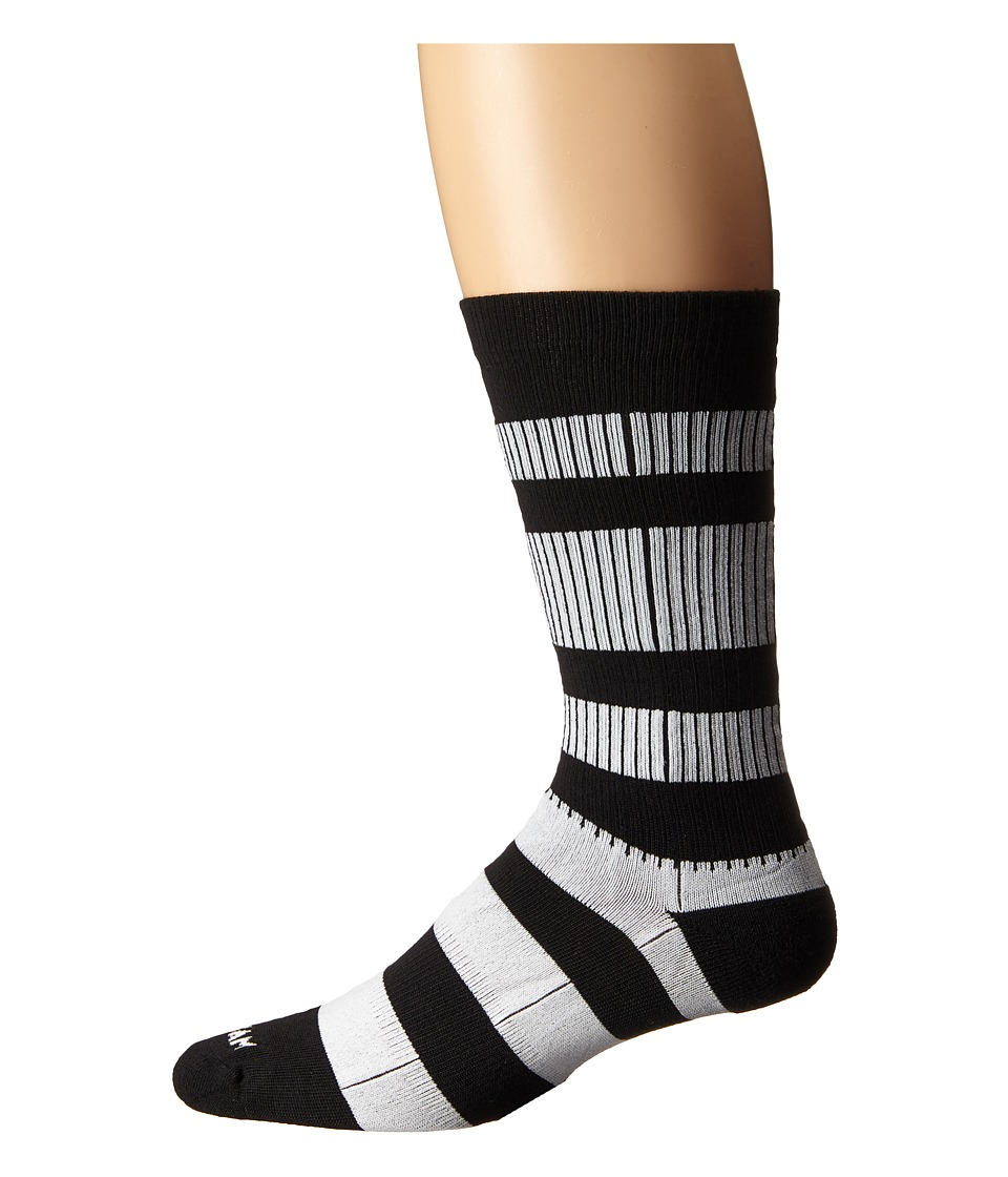 Wigwam Channel Crew 1 Pair Pack Black/White Crew Cut Socks Shoes