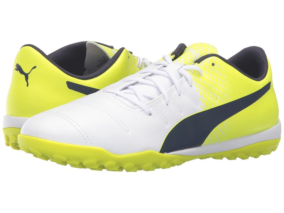 PUMA evoPOWER 4.3 TT (Puma White/Peacoat/Safety Yellow) Men