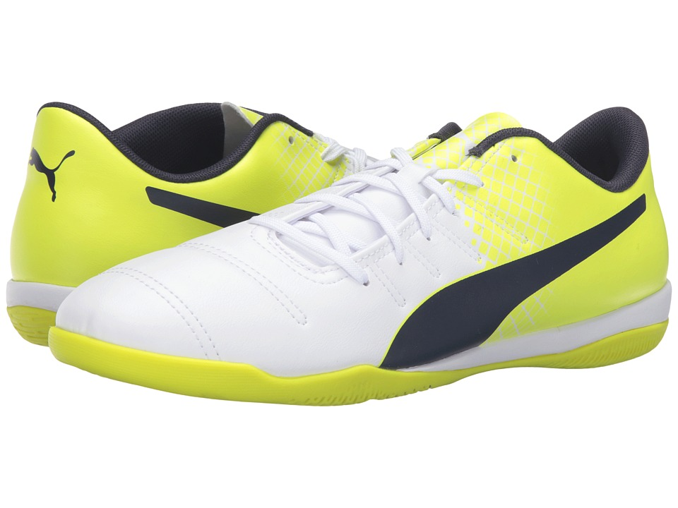 PUMA - evoPOWER 4.3 IT (Puma White/Peacoat/Safety Yellow) Men