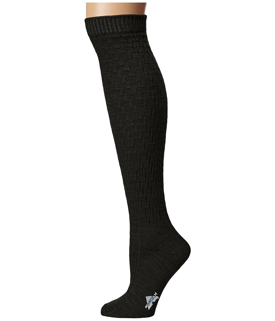Wigwam - Lilly Knee Highs (Black) Knee High Socks Shoes