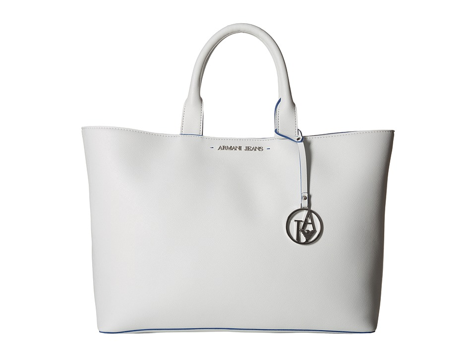 Armani Jeans - Shopping Bag with Small Pouch (White) Bags