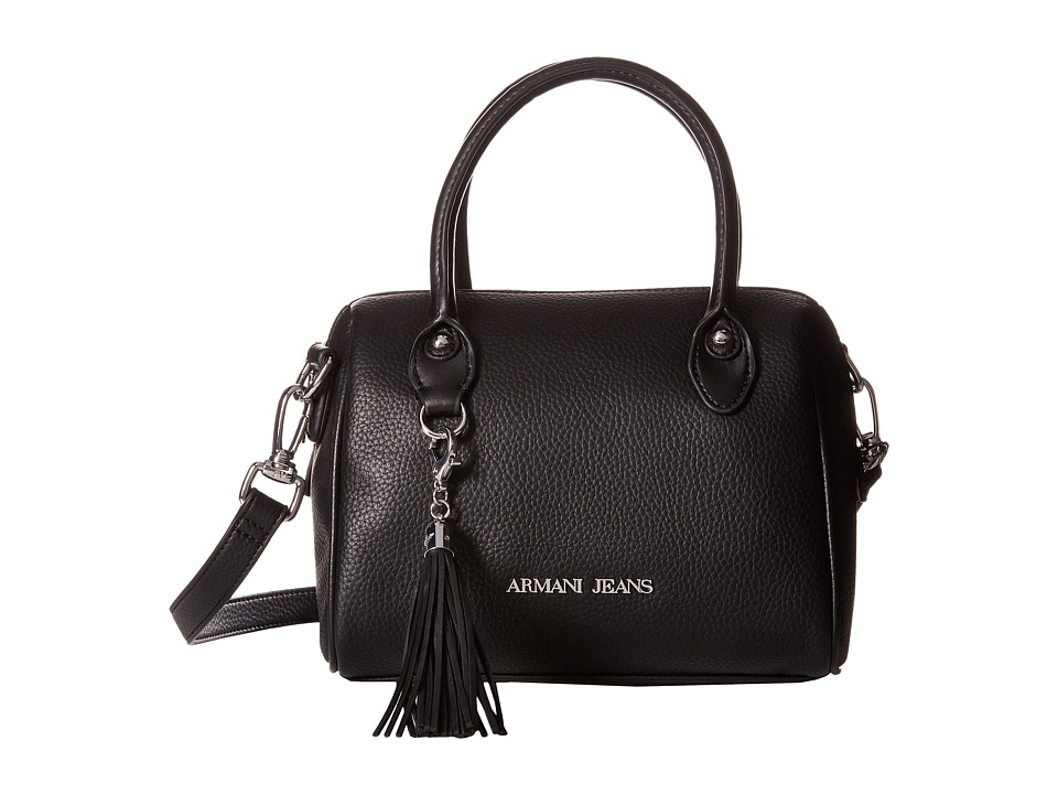 Armani Jeans - Small Boston Bag with Tassle Detail (Black) Bags