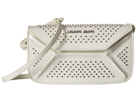 Armani Jeans Leather Continental Bag with Studs